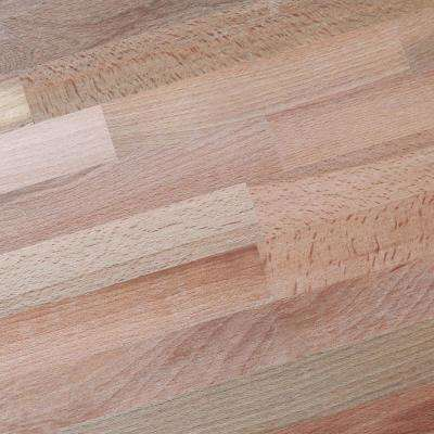 6 ft. 2 in. L x 3 ft. 3 in. D x 1.5 in. T Island Butcher Block Countertop in Unfinished Beech