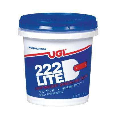 1 pt. 222 Lite Spackling Paste (2-Pack)