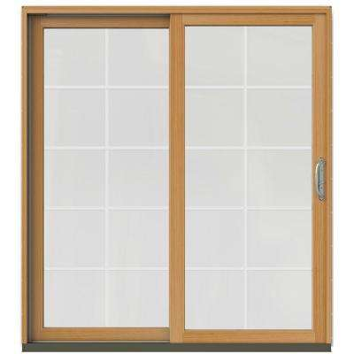 71-1/4 in. x 79-1/2 in. W-2500 Brilliant White Prehung Left-Hand Clad-Wood Sliding Patio Door with 10-Lite Grids
