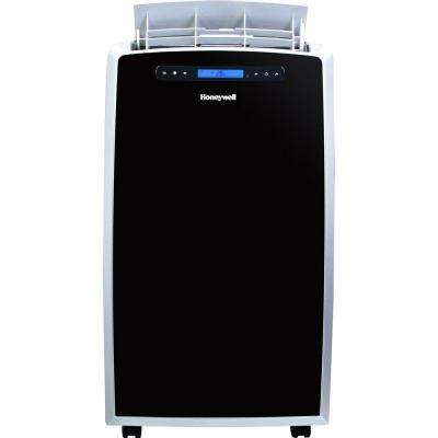 14,000 BTU Portable Air Conditioner with Heat Pump in Black and Silver