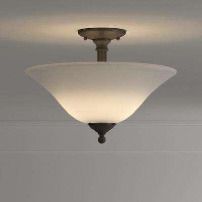 Riva 3-Light Painted Bronze Ceiling Semi-Flush Mount Light