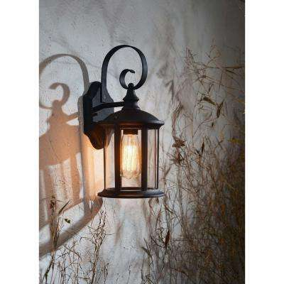 Leo 1-Light Black Outdoor Lantern