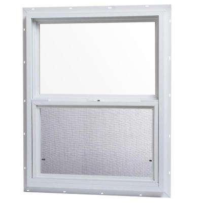 24 in. x 30 in. Single Hung Vinyl Window - White
