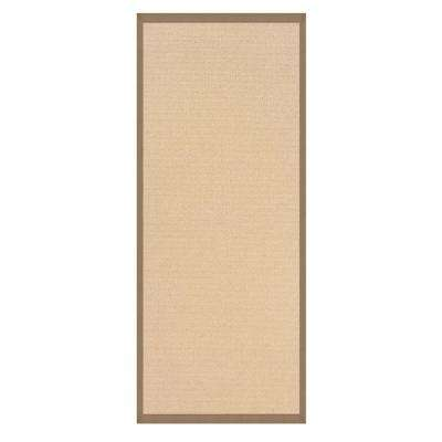 Athena Natural and Beige 2 ft. 6 in. x 12 ft. Rug Runner