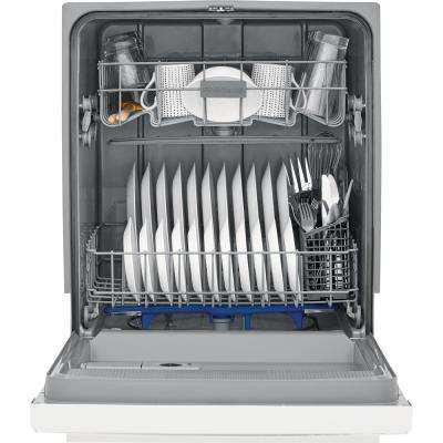 24 in. Built-In Front Control Tall Tub Dishwasher in White