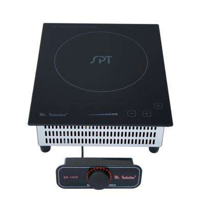 8.86 in. Mini Tempered Glass Induction Cooktop in Black