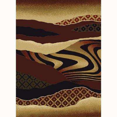 Mojave Auburn 7 ft. 10 in. x 10 ft. 6 in. Contemporary Area Rug