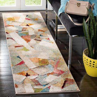 Porcello Gray/Multi 2 ft. 3 in. x 8 ft. Runner Rug