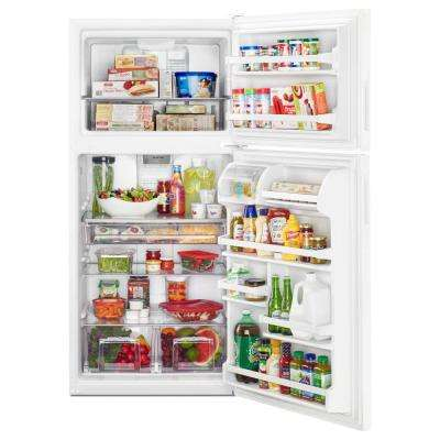 30 in. W 18 cu. ft. Top Freezer Refrigerator in White