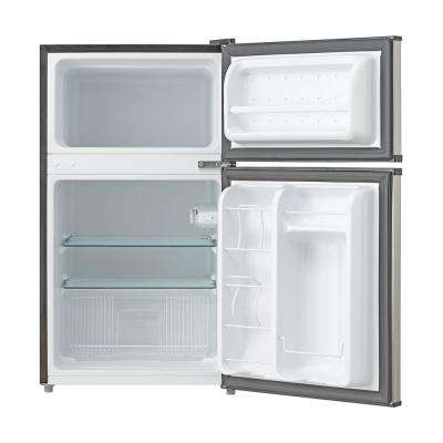 3.4 cu. ft. Energy Star Stainless Steel Compact Refrigerator/Freezer in Black