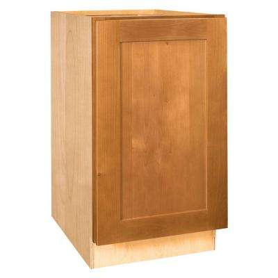 12x34.5x21 in. Hargrove Assembled Vanity Base Cabinet with Full Height Door in Cinnamon