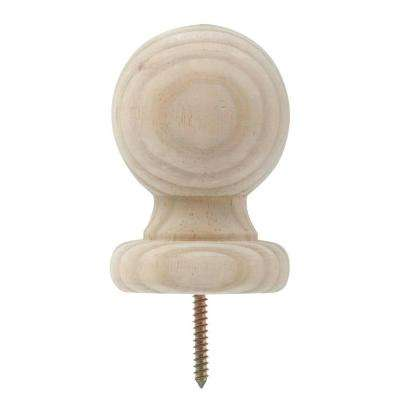 2.75 in. x 4 in. Small Pine Replacement Ball Post Top