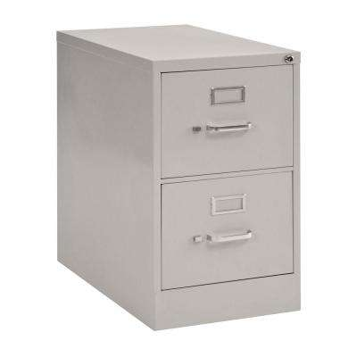 2-Drawer Legal Size Steel Vertical File Cabinet in Dove Gray