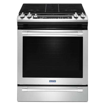 30 in. 5.8 cu. ft. Slide-In Gas Range with True Convection in Fingerprint Resistant Stainless Steel