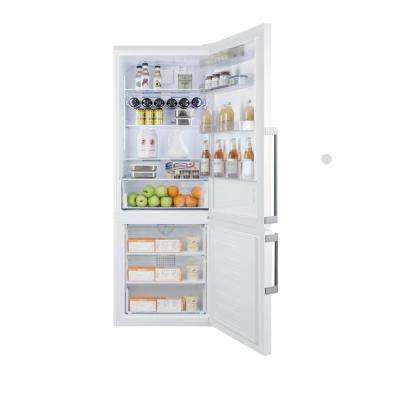27 in. 16.8 cu. ft. Bottom Freezer Refrigerator in White, Counter Depth