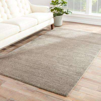 Solids/ Handloom Cloudburst 10 ft. x 14 ft. Solids Area Rug