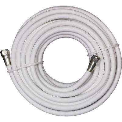 25 ft. White RG-6 Coaxial Video Cable