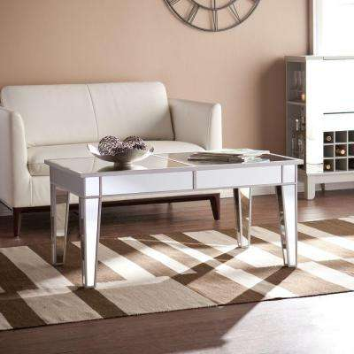 Ethel Silver Mirrored Coffee Table
