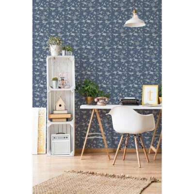 Nomad Collection Chasing Birds in West Coast Blues Removable and Repositionable Wallpaper