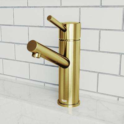 Noma Single Hole Single-Handle Bathroom Faucet in Matte Gold