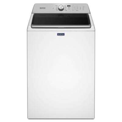 4.7 cu. ft. High-Efficiency Top Load Washer with PowerWash Cycle in White
