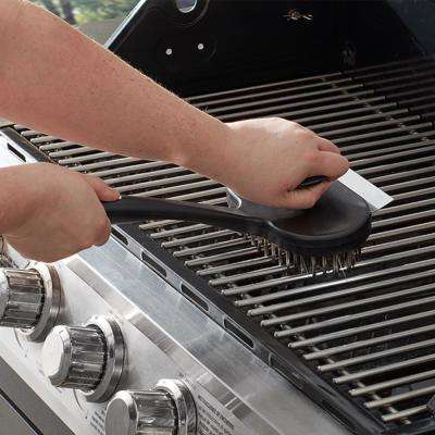 Oversized Dual-Handle Commercial Grill Brush with Durable Stainless Steel Bristles