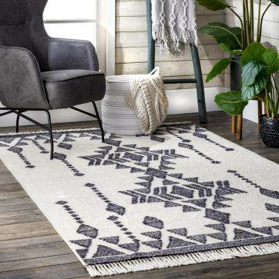 Heavenly Tribal Dreamscape Beige 8 ft. x 10 ft. Area Rug
