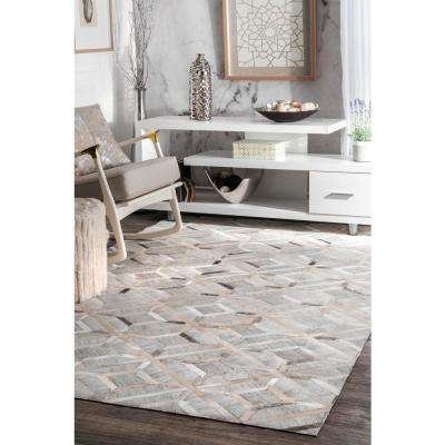 Cowhide Chanda Grey 9 ft. x 12 ft. Area Rug