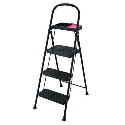 3-Step Steel Step Stool with Project Tray 225 lb. Load Capacity Type II Duty Rating