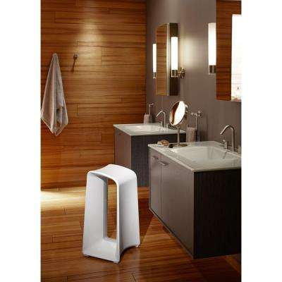 Jute 30 in. Vanity in Satin Oak with Vitreous China Vanity Top in White