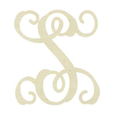 19.5 in. Unfinished Single Vine Monogram (S)
