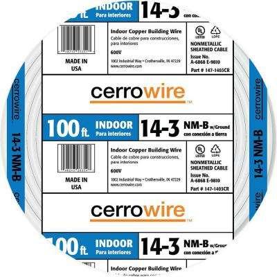 100 ft. 14/3 NM-B Wire, White