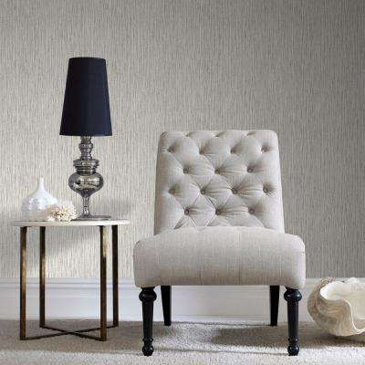 Grasscloth Cream Cream Wallpaper Sample