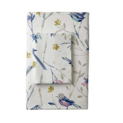 Day Song Flannel Flat Sheet
