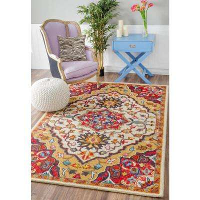 Arline Tribal Red 3 ft. x 5 ft.  Area Rug