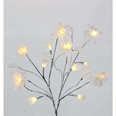 24 in. 3-Watt Chrysanthemum with 12 Warm White LED Lights
