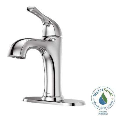 Ladera 4 in. Centerset Single-Handle Bathroom Faucet in Polished Chrome