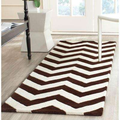 Chatham Brown/Ivory 2 ft. x 7 ft. Runner Rug