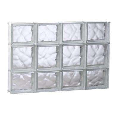 31 in. x 19.25 in. x 3.125 in. Wave Pattern Non-Vented Glass Block Window