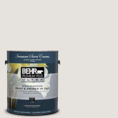 Home Decorators Collection 1-gal. #HDC-NT-21 Weathered White Satin Enamel Interior Paint