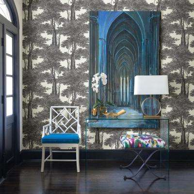 56.4 sq. ft. Scout Black Forest Wallpaper