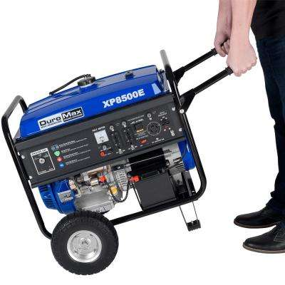 8500/7000-Watt Gasoline Powered Electric Start Portable Generator with Wheel Kit