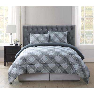 Trevor Grey 3-Piece Gray Full and Queen Comforter with Shams