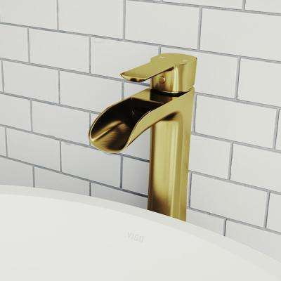 Niko Single Hole Single-Handle Vessel Bathroom Faucet in Matte Gold