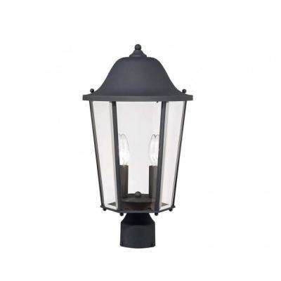 Monti 2-Light Black Outdoor Post Lantern