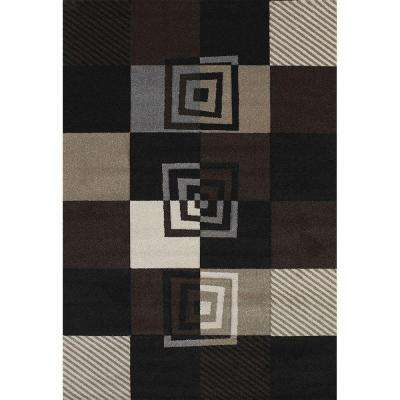 Vibes Black 5 ft. 3 in. x 7 ft. 6 in. Area Rug