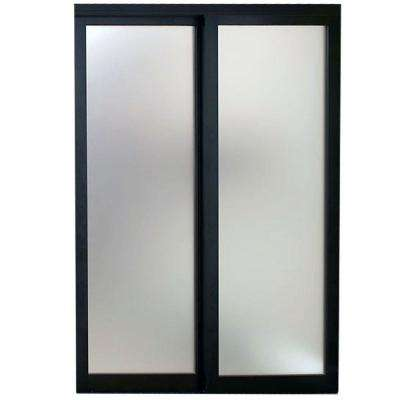 Eclipse Mystique Glass Bronze Finish Aluminum Interior Sliding Door