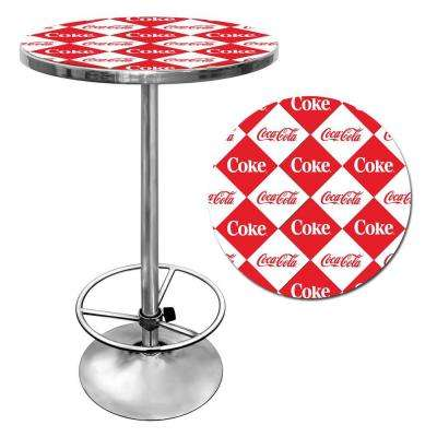 Checker Coca-Cola Pub Table