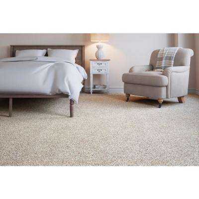 Carpet Sample - Soft Breath II - Color Arrowridge Texture 8 in. x 8 in.