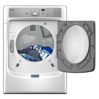 7.4 cu. ft. 240 Volt White Electric Vented Dryer with Steam and POWERDRY System, ENERGY STAR